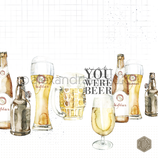 Designpapier *Wish you were Beer*