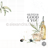 Designpapier *Olives 'r good 4 you*