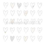 Designpapier *Herzen Liebe*