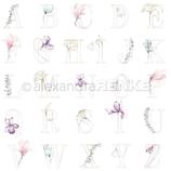 Designpapier *Florales Alphabet*