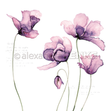 Designpapier *Große Tulpen violet*