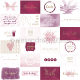 Designpapier *Kärtchenbogen Quer Berry*