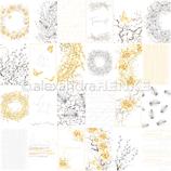 Designpapier *Kärtchenbogen traumhaft in gelb und grau*