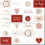 Designerpapier *Kärtchenbogen Quer Rot*