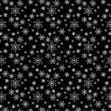 Designpapier *Schneekristalle auf Tiefschwarz*