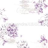 Designpapier *Veilchenblüten*