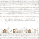 Designpapier *Häuser Noten*