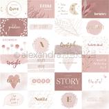 Designpapier *Kärtchenbogen Quer Rosa*