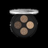 Palette Quattro, fard à paupières poudres cuites Capuccino cream LAVERA - 3,2g