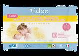 Lingettes bébé Ultra douce Compostables au Calendula TIDOO - x58