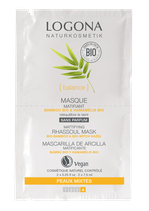 Masque Matifiant Bambou bio & Hamamélis bio, peaux mixtes LOGONA - 2 x 7,5ml
