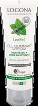 Gel gommant Nettoyant Menthe bio & Acide salicylique, peaux à problèmes LOGONA - 100ml