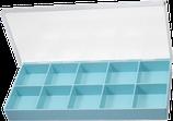 Boite 10 cases, couvercle à charnière HOROTEC