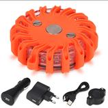 LED Warnleuchte mit Akku & Ladegerät, orange