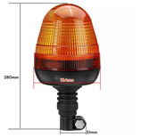 LED Warnleuchte für genormte Drehlicht-Aufstecksockel 12/24Volt