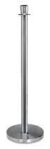 Absperrständer-Set (2 Stk.) mit flacher Zierkugel