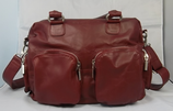 Vancouver Bag - Buffalo Leather (Burgundy)