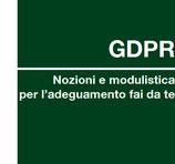 """GDPR - Nozioni e modulistica per l'adeguamento """"fai da te"""""""