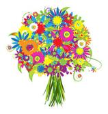 Saisonal bunter Blumenstrauß