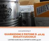 Pistone Ducati Cucciolo d.  40,25