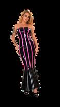 50-9478 Kleid lang Schwarz/Pink