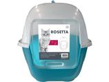 Katzentoilette Rosetta blau