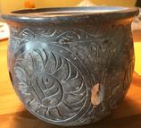 Wunderschönes und sehr großes Räuchergefäß Speckstein grau
