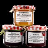 Fruchtaufstrich 3er-Set Erdbeere Apfel & Pflaumen in Dornfelder Rotwein