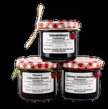 Fruchtaufstrich 3er-Set Holunderbeeren, Pflaumen & schwarze Johannisbeeren