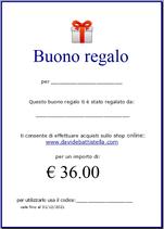 Buono Regalo per Bretelle Basic  cm 2,5 - € 36.00