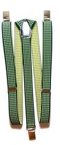 Bretelle Pied de Poule Verde e e Pelle Nera
