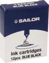 Sailor Cartridges 12pcs Blue-Black