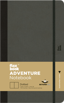 Adventure Notebook A5, 13x21cm, Dotted, Black