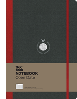 Flexbook Notebook Open Date, A5 13x21cm, red