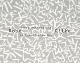 Rainer Maria Rilkektname - Rose -livre entrebâillé-halbgeöffnetes Buch-Rilke