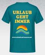 Herren T-shirt in divablue