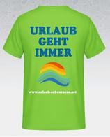 Herren T-shirt in orchideengrün