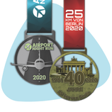 Set - Airport Night Run & S 25 Berlin 2020 Medaille