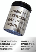 AquaClic® Inox Think Positively, Excercise Daily