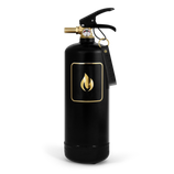 Feuerlöscher schwarz gold