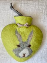 Herzwärmeflasche Bunny limone