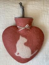 Herzwärmeflasche Puppy canyon rose