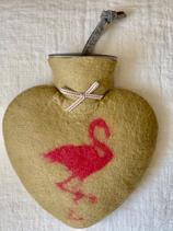 Herzwärmeflasche Flamingo taiga