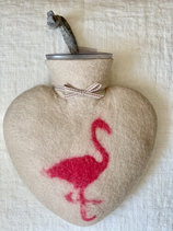 Herzwärmeflasche Flamingo white dune