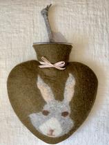 Herzwärmeflasche Bunny green earth