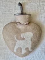 Herzwärmeflasche Puppy dune