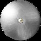 "Knopf ""Juwel"" Silber Perle"