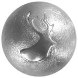 """Knopf """"Hirschkopf"""" Silber 925/ooo gekratzt"""