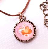 Halskette mit Anhänger, Schmetterling ROSA Herz- Edition