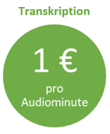 Transkription 1€ die Audiominute